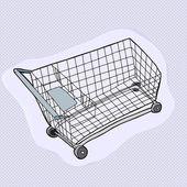 Single Shopping Cart — Stock Vector