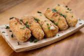 Ration of Croquettes. Typical Tapa of Spanish Cuisine. — Stock Photo