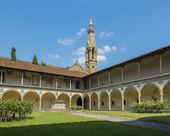Basilica di santa croce. florens, italien — Stockfoto