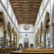 Main nave of Basilica di Santa Croce. Florence, Italy — Stock Photo