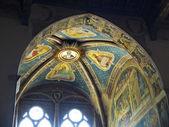 Ceiling of Rinuccini chapel in Basilica di Santa Croce. Florence, Italy — Stock Photo