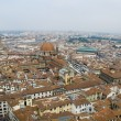 Florence panoramic view and The Basilica di San Lorenzo in the d — Stock Photo