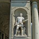 Постер, плакат: Statue of Giovanni dalle Bande Nere Giovanni de Medici in Galeria degli Uffizi Florence Italy