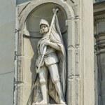 Постер, плакат: Statue of Francesco Ferruccio in Galeria degli Uffizi Florence Italy