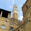Stock Photo: Palazzo Pubblico with Mangitower in background. Siena, Italy