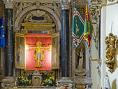 The Crocifisso church in Casa Santuario di Santa Caterina. Siena, Italy — Stock Photo
