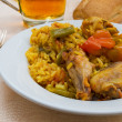 Typical spanish Paella tapa. — Stock Photo