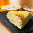 Typical spanish pincho de tortilla de patatas — Stock Photo