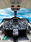 Cockpit plane. — Stock Photo