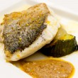Stock Photo: Pan-fried gilt head bream