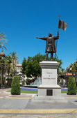 Cristobal Colon monument. Huelva, Andalucia. Spain — Stock Photo
