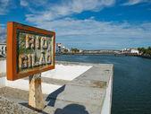 Ponta de Romana over Gilao river in Tavira, Algarve. Portugal. — Stock Photo