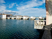 Ponta de Romana over Gilao river in Tavira, Algarve. Portugal. — Stock Photo