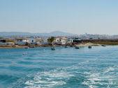 Faro Islands marshs. Faro, Algarve. Portugal. — Stock Photo