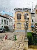 Historic facade in historic quarter of Portimao. Algarve, Portug — Stock Photo