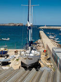 The docks in Marin. Sagres, Algarve. Portugal — Stock Photo