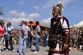 """ Astur-Roman Festival of La Carisa "" CARABANZO Asturias SPAIN. — Stock Photo"