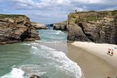""" PRAIA AS CATEDRAIS "" Spain — 图库照片"