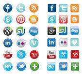 Iconos de redes sociales — Vector de stock