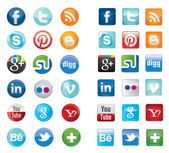 Sociální sítě ikony — Stock vektor