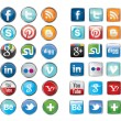 Social network icons — Stock Vector #26555357