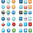 Social network icons — Stock Vector #29152379