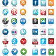Stock Vector: Social network icons