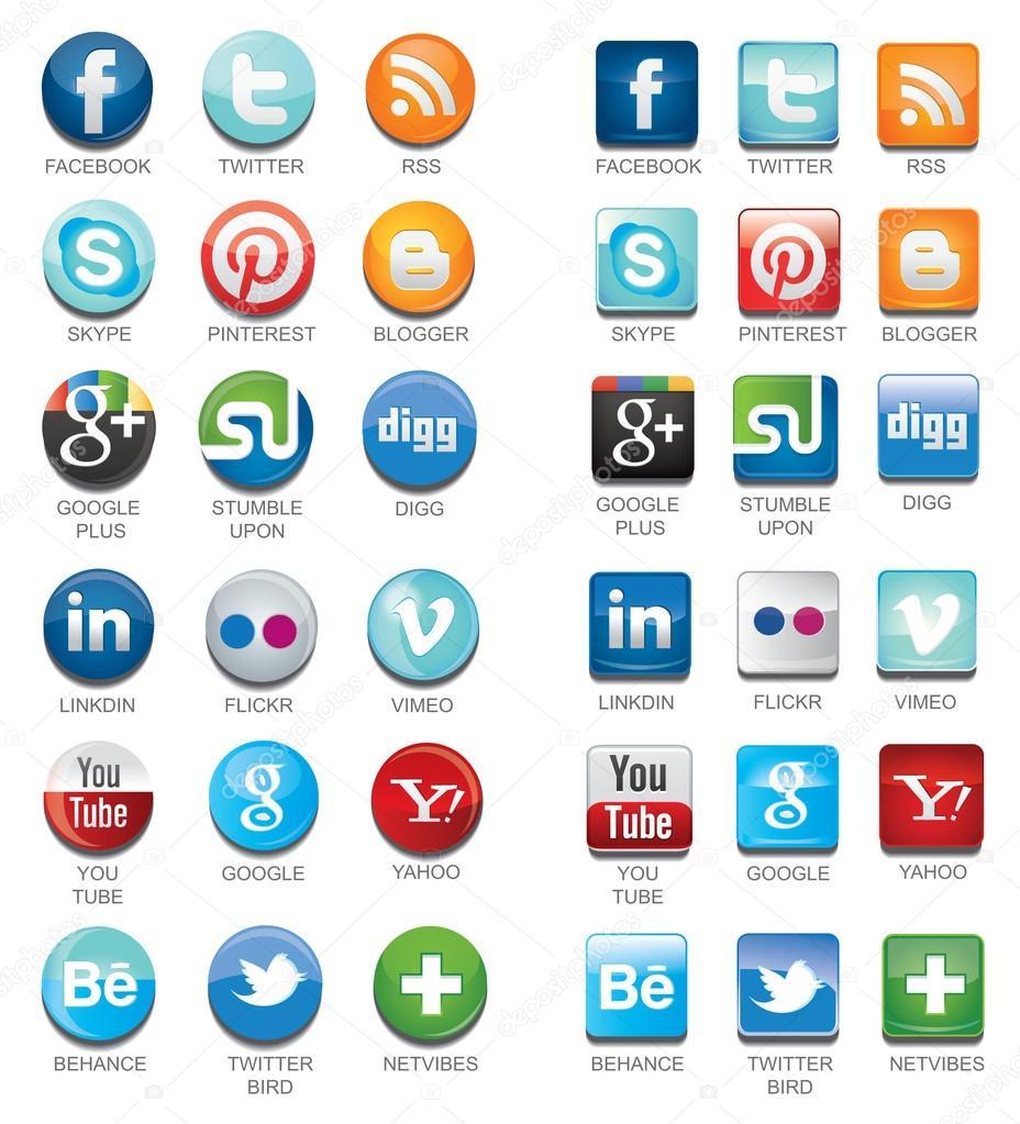 Social network icons — Stock Vector © heenal #29152379