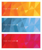 Abstract banner set — Stock Vector