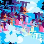 Beautiful pattern with birds — Stock Photo