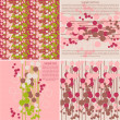 Set of vector artistic seamless patterns and cards — Stock Photo #16332217
