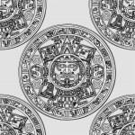Vector Maya seamless ornament — Stock Photo