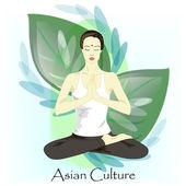 Kvinna praktisera meditation — Stockfoto