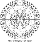 Horoscope circle — Stock Photo