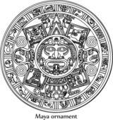 Vector Maya ornament — Stock Photo