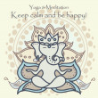 Stockvektor : Cute hinduism card with ganesha
