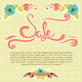 Sale banner, vector illustration — Stock Vector