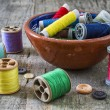 Sewing supplies - Stock Photo