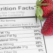 Nutrition facts — Stock Photo