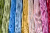 Multicolored floss — 图库照片