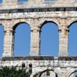 Roman amphitheater, colosseum in Pula, Croatia — Stock Photo #12360544
