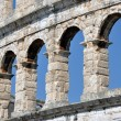 Roman amphitheater, colosseum in Pula, Croatia — Stock Photo #12360558