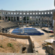 Roman amphitheater, colosseum in Pula, Croatia — Stock Photo #12360589