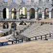 Roman amphitheater, colosseum in Pula, Croatia — Stock Photo #12360605