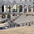 Roman amphitheater, colosseum in Pula, Croatia — Stock Photo