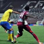 Soccer player dribbling — Stock Photo