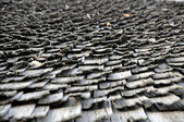 Seamless texture of shingle wooden roof — Stock Photo