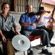 Musicians playing on traditional instruments - Foto Stock