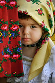 In traditional dresses at a wedding — Стоковое фото
