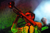 Live concert, Parov Stelar Band — Stock Photo